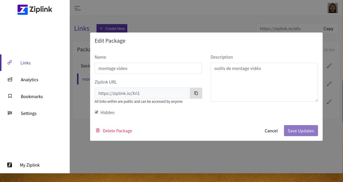 ZipLink: diffusez des collections de liens avec une adresse unique