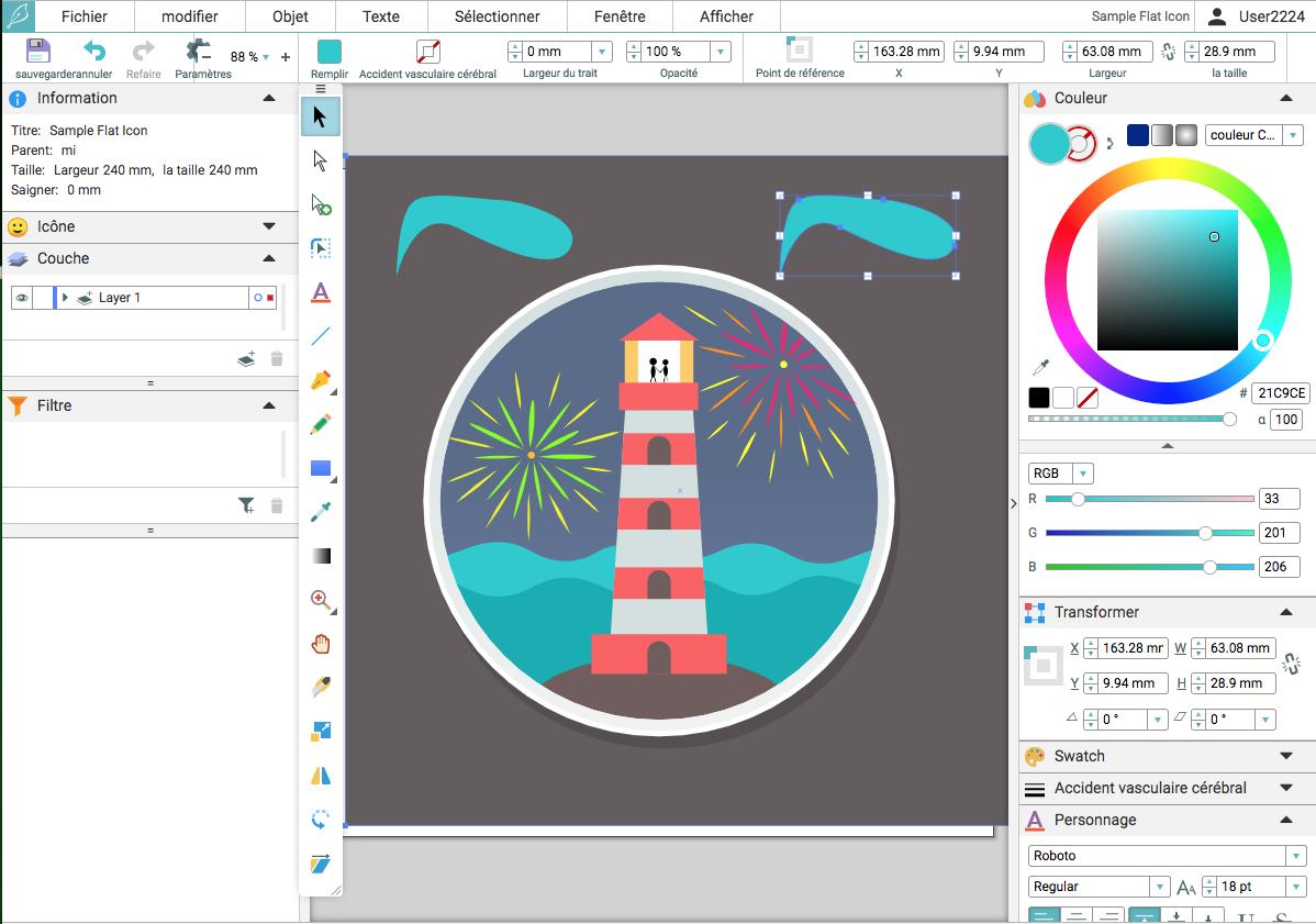Drawser: un très bon éditeur d'images vectorielles en ligne