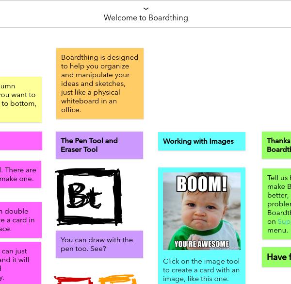 Boardthing: un tableau à post it collaboratif convaincant