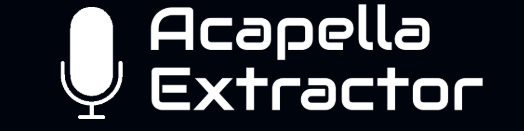 Acapella extractor : extraire uniquement les voix de vos chansons préférées.