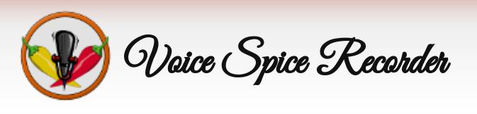 Voice Spice Recorder : enregistrer et diffuser des messages audio en ligne.