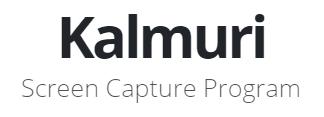 Kalmuri : un petit programme basique mais pratique pour ses captures d'écran en image ou vidéo.